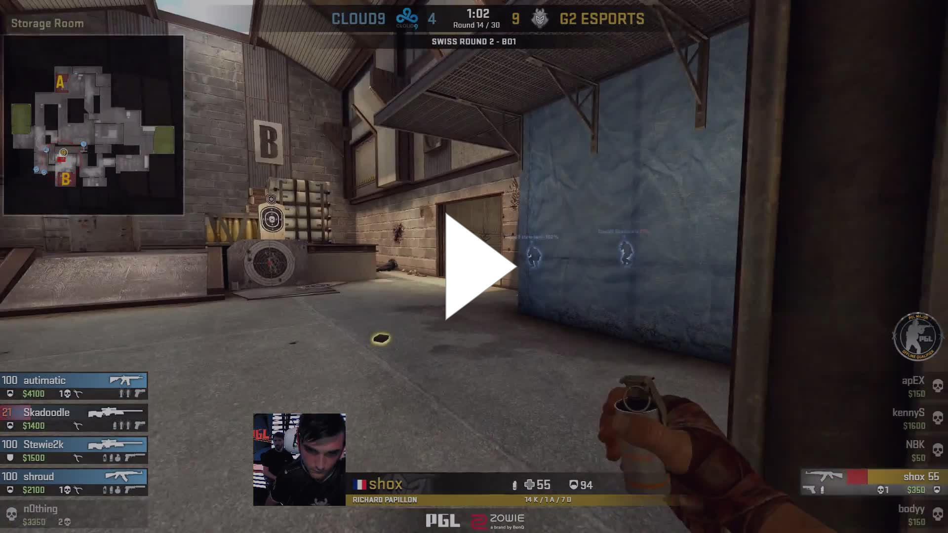 50 seconds of shox's beautiful crosshair placement