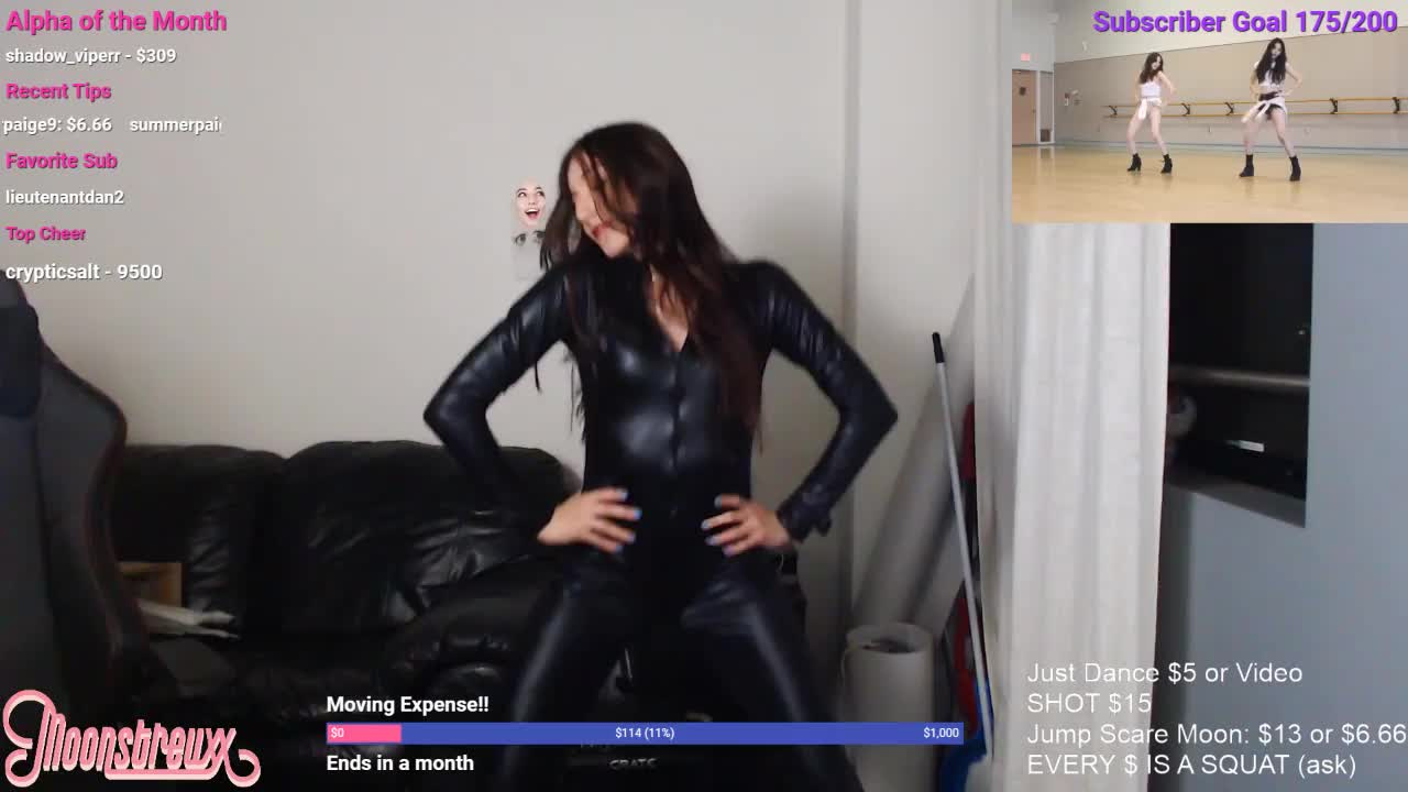 Latex catsuit video