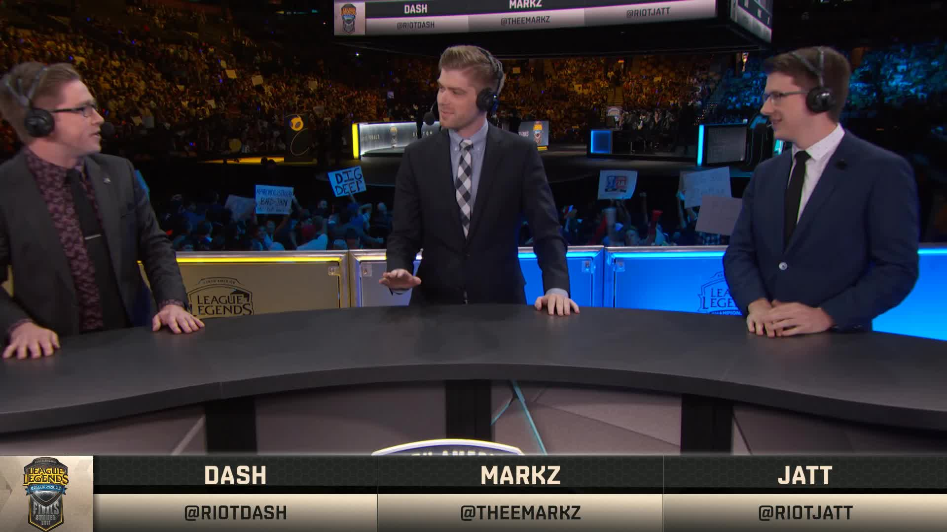 League of Legends casters rep Lakers in Celtics' arena TD