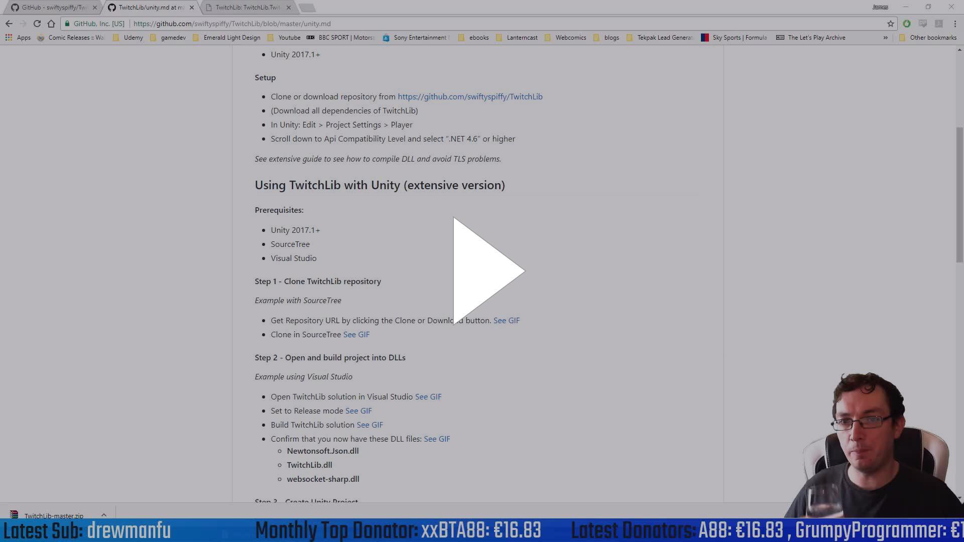 GamesPlusJames - Building a Stream Game - Unity C# - Twitch