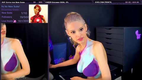 bodypainting twitch
