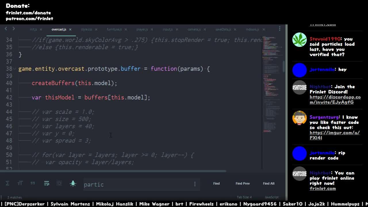 Frinlet Game Dev! [ #gamedev #programming #js #webGL #webRTC #HTML5