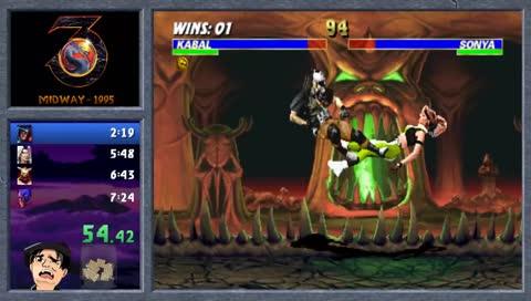 Mortal Kombat 3 arcade Rev 1.0 WR 07:08