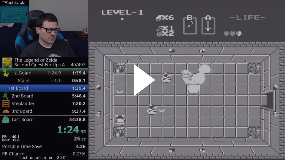 LackAttack24 - (34:29) The Legend of Zelda - Second Quest any% no up