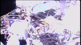 Astronauts Venture into Space for a Spacewalk