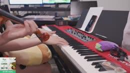 practicing kpop music