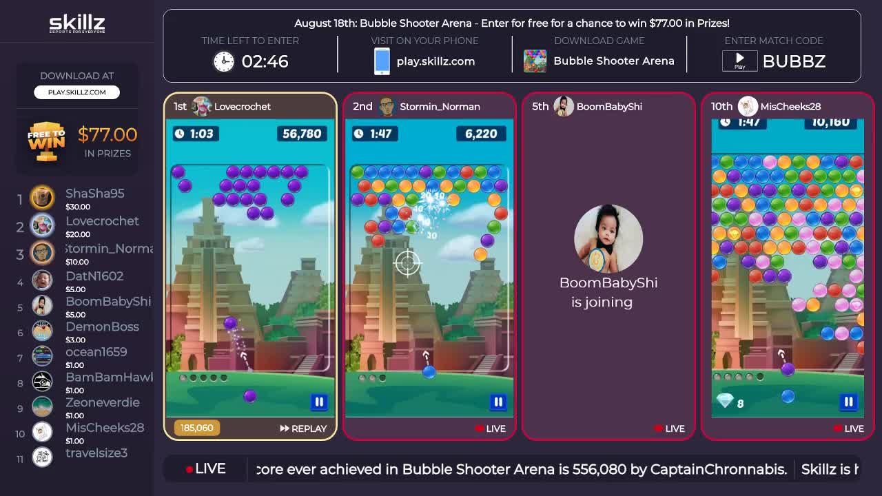 Skillz - Skillz live 24/7 Tournaments! Play on your mobile
