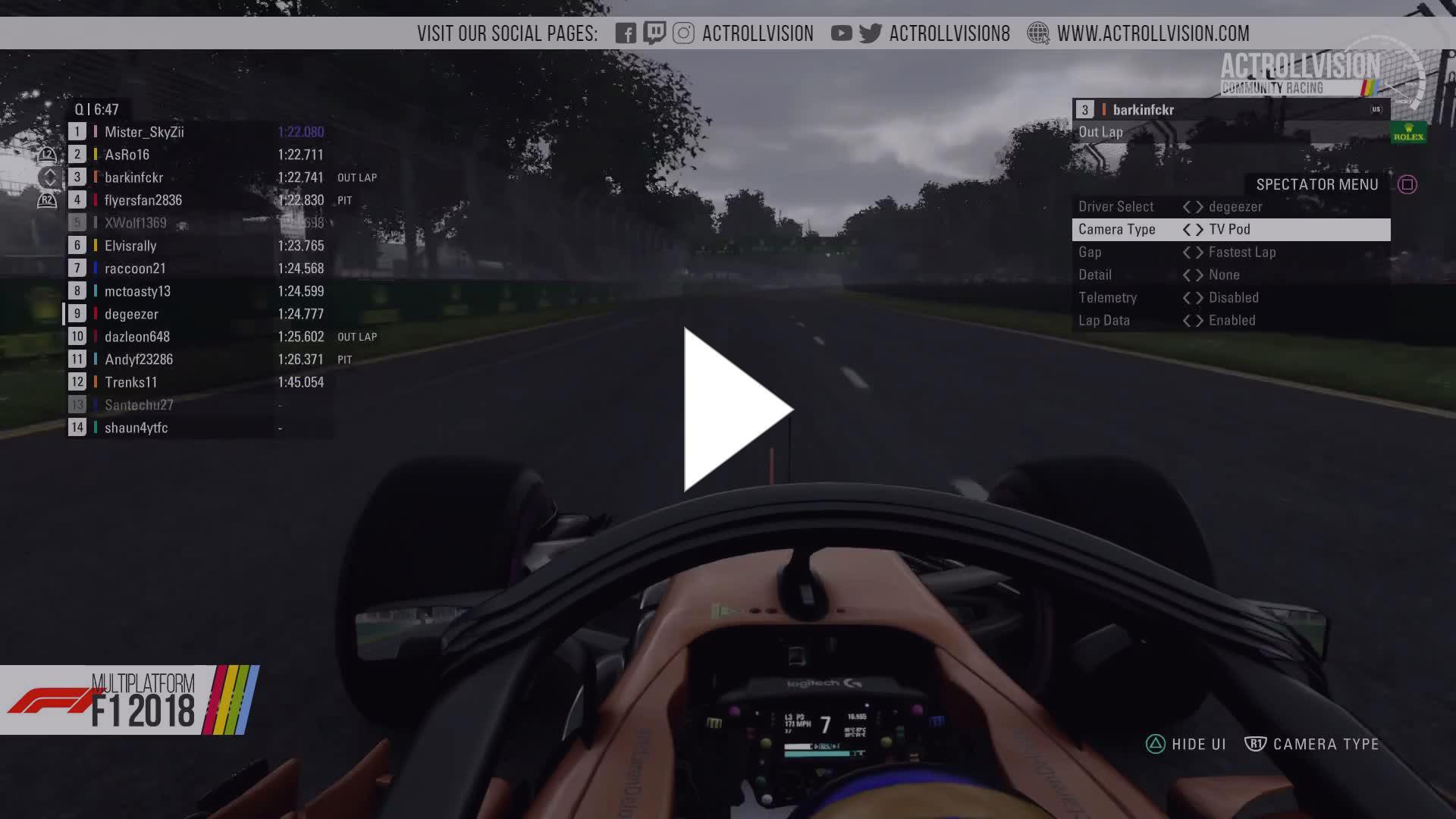 Actrollvision - ACR Formula 1 2018 season 2 Round 1 (Pre