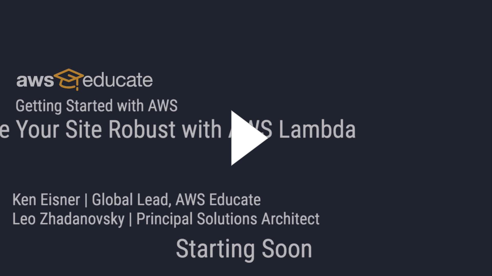 AWS - Getting Started with AWS | Make Your Site Robust with AWS
