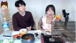 [Cook] 요리의 달인 미모쨩 - 차돌박이 김치찌개 (오빠 먹이기)