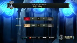 2018 LoL World Championship 8강 KT VS IG l RNG VS G2