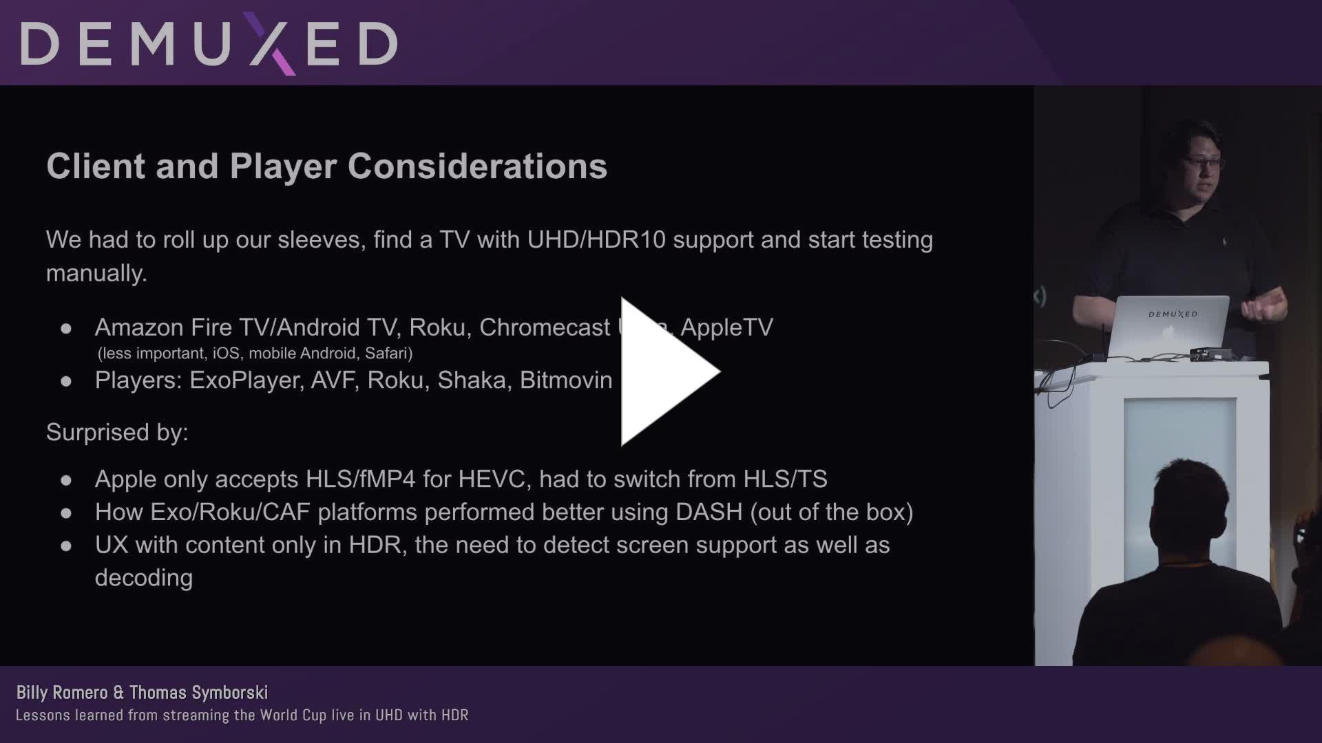 Bitmovin Player Chromecast
