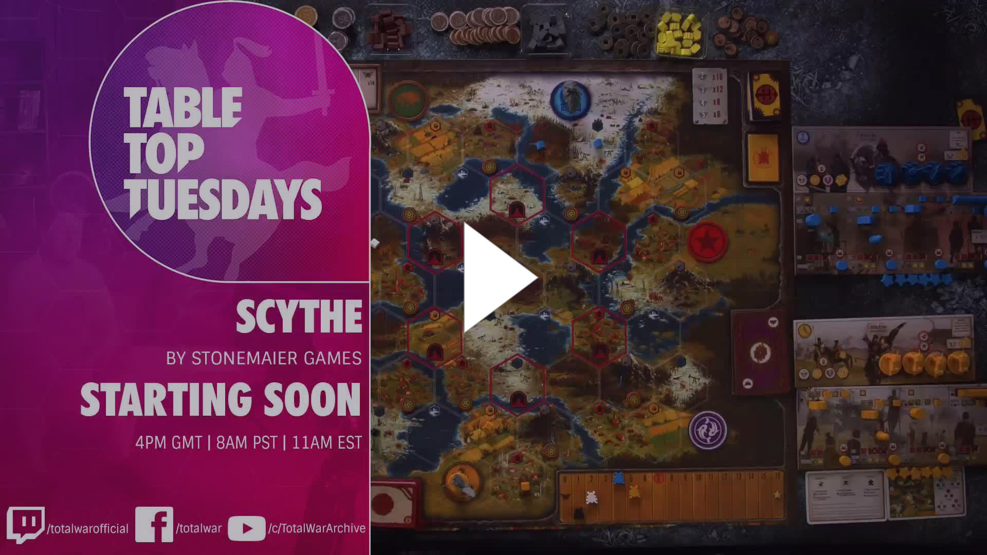 TotalWarOfficial - TableTop Tuesdays - Scythe by Stonemaier Games 13/11/18 - Twitch