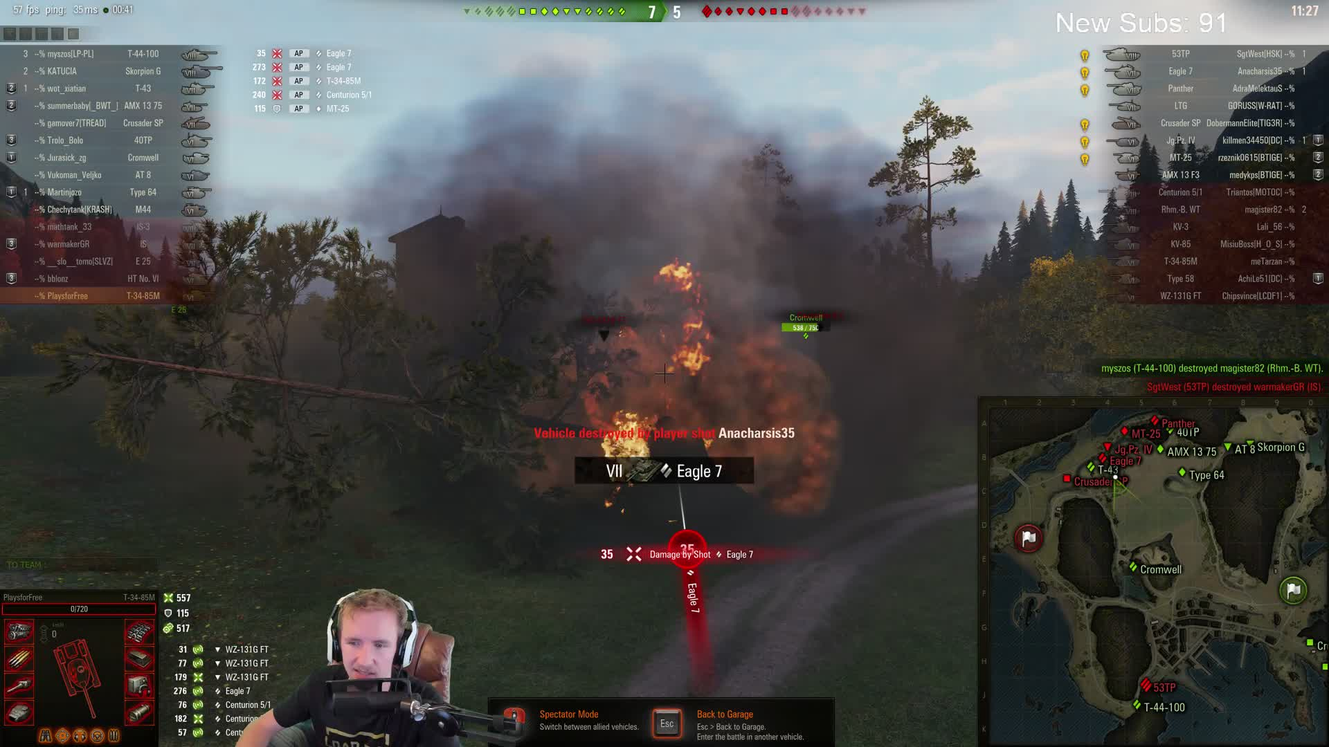 A 43 Wot quickybaby - new account - free to play    3300+ wn8    15