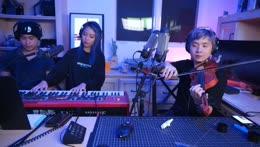 Albert, Zorsy, and JVNA play JVNA's new song
