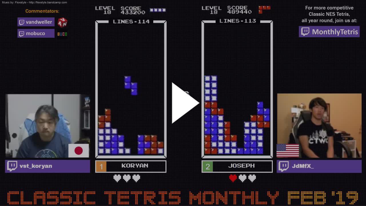 ClassicTetris - Classic Tetris Monthly - Main Event - February 2019