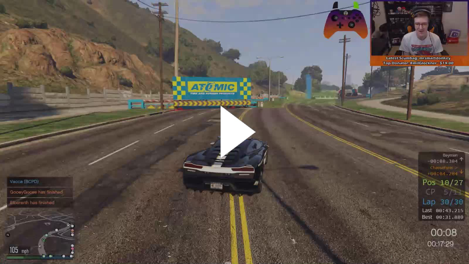 Broughy1322 - GTA FiveM Fun! Unique & Random Racing! - Twitch