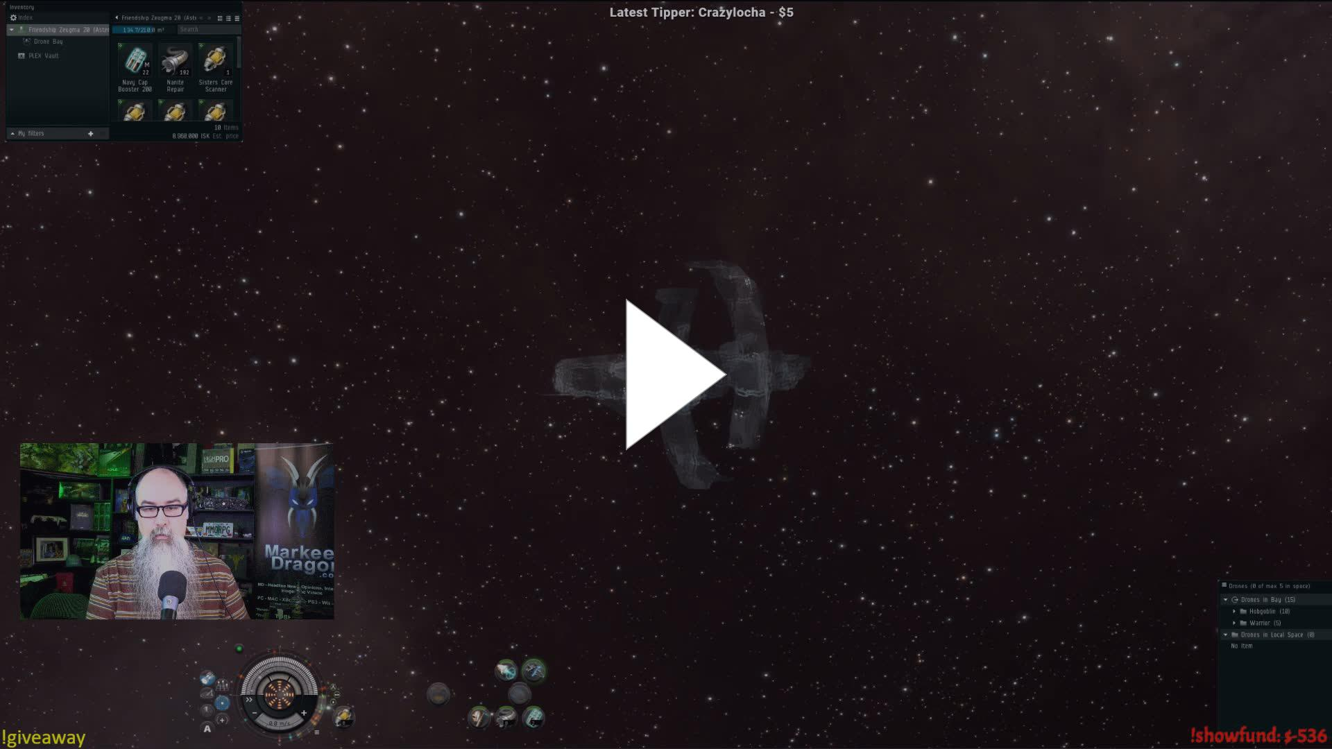CCP - Wormholing with Markee Dragon - Twitch