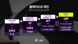 [2019 스무살우리 LCK Spring Split] Playoffs 1라운드 I KZ vs. DWG