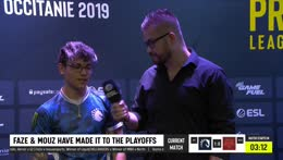 CSGO Pro gets chewing gum in the middle of an Interview.