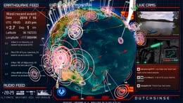 Earthquake3D Live Stream - 24/7 Global Seismic Activity