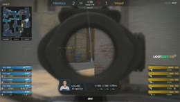 jeyN (CT) - 4 kills (3 M4A4, Deagle) on the T Mid to Long flank (finishing frags - vs upgraded pisto