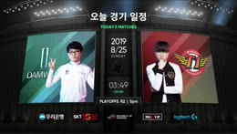DWG vs. SKT | Playoffs Semifinals | LCK Summer | DAMWON Gaming vs. SK telecom T1 (2019)