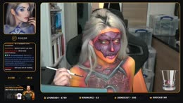 <Method> @djari328 RAGNAROS INSPIRED face & body paint! !inspo