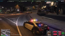 Chasing cops