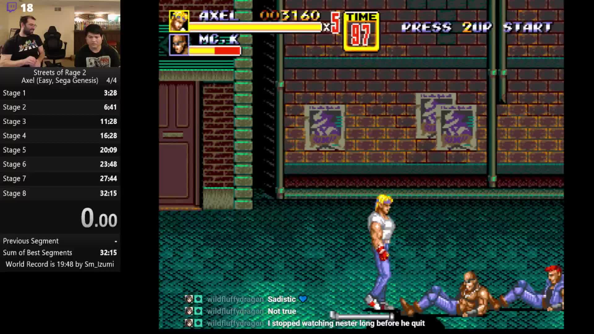 Saihawkeye Axel Combo Pacing Streets Of Rage 2 Twitch