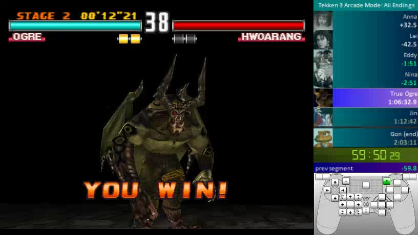 Shirdel - Tekken 3: All Endings (Normal, 2 Rounds) Speedrun