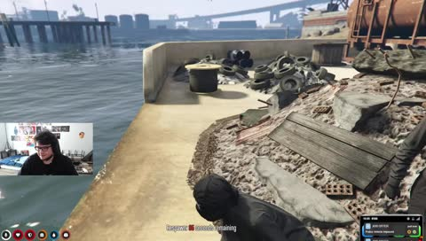 Chased him down, killed him, robbed him, RP checked him, Dumped him in the water Sadge