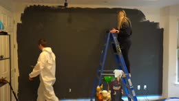 Painting my wall | CASHMERE SWEATER at www.sodapoppin.shop (Discount code: POOR)